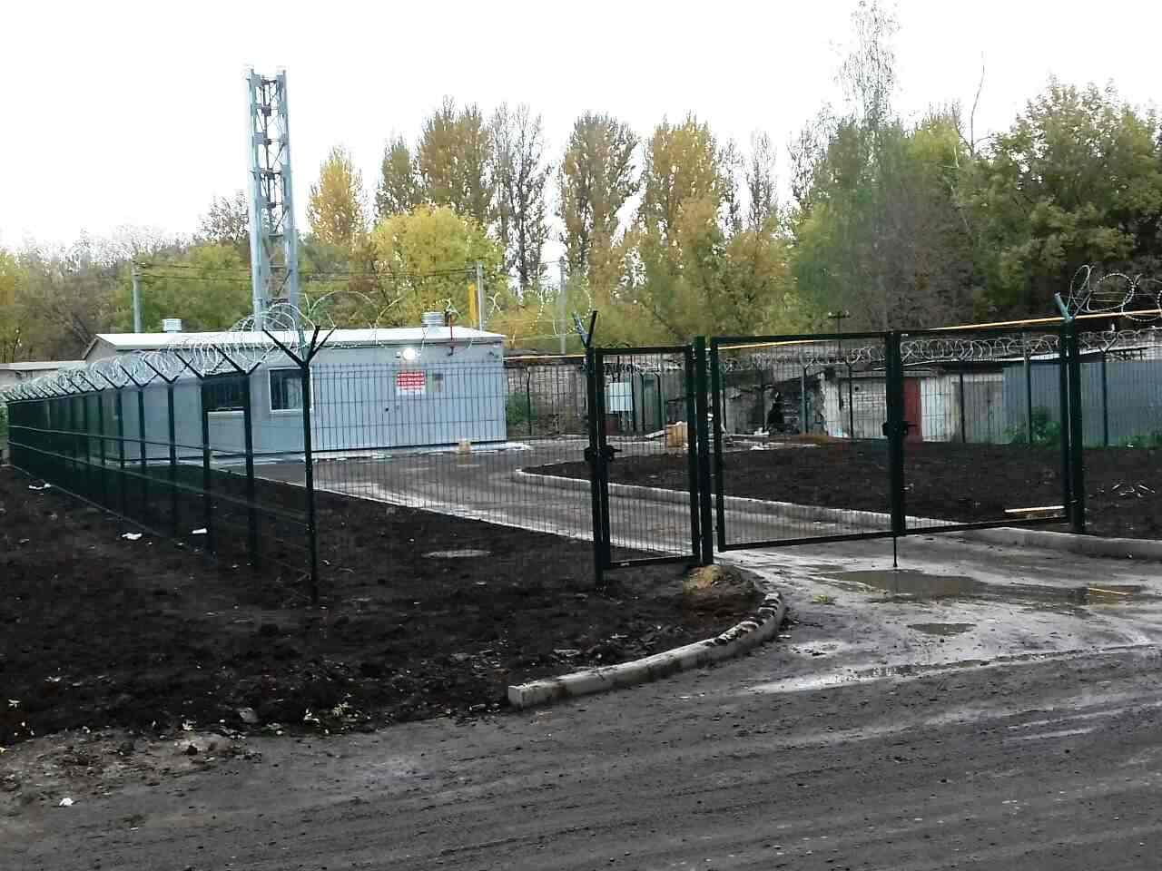 Забор для котельной