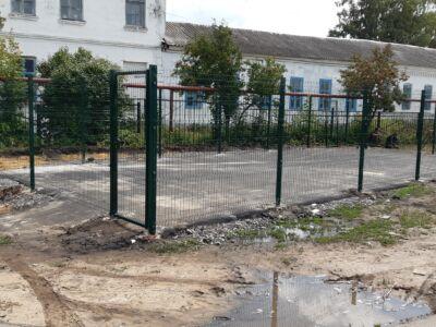 Забор школа в Бокино