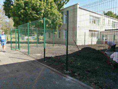 3Д ограждение детского сада