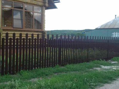 Забор из евроштакетника Челнаво-Покровское